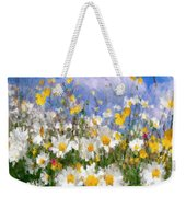 Daisies On A Hill - Impressionism Weekender Tote Bag