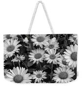 Daisy Cluster Vermont Flowers In Black And White Weekender Tote Bag