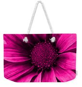 Daisy Daisy Neon Pink Weekender Tote Bag
