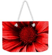 Daisy Daisy Neon Red Weekender Tote Bag