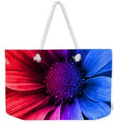 Daisy Daisy Red To Blue Weekender Tote Bag