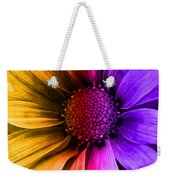 Daisy Daisy Yellow To Purple Weekender Tote Bag