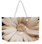 Daisy Dream Raindrops Sepia Weekender Tote Bag