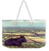 Daisy Enjoys The View From Truleigh Hill Weekender Tote Bag