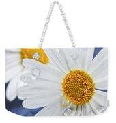 Daisy Flowers With Water Drops Weekender Tote Bag by Elena Elisseeva