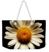 Daisy On Black Square Fractal Weekender Tote Bag