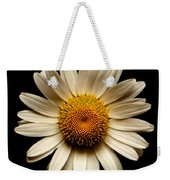 Daisy On Black Square Weekender Tote Bag