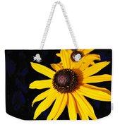 Daisy On Dark Blue Weekender Tote Bag