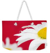 Daisy Reflecting On Red V2 Weekender Tote Bag