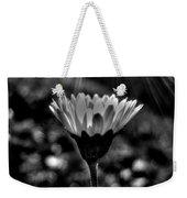 Monochrome Daisy Under Sun Weekender Tote Bag