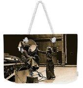 Dakota Homage #1 1945 Cowboy Extras Sound Stage Old Tucson Arizona Weekender Tote Bag