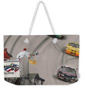 Dale Earnhardt Wins Daytona 500-checkered Flag Weekender Tote Bag