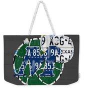 Dallas Mavericks Basketball Team Retro Logo Vintage Recycled Texas License Plate Art Weekender Tote Bag