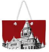 Dallas Skyline Old Red Courthouse - Dark Red Weekender Tote Bag