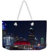 Dallas Skyline Arts District At Night Weekender Tote Bag
