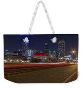Dallas Skyline At Night Weekender Tote Bag