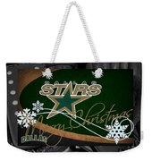 Dallas Stars Christmas Weekender Tote Bag