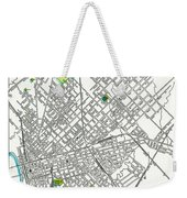 Dallas Texas Hand Drawn Map  1893 Weekender Tote Bag
