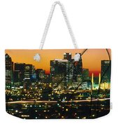 Dallas Texas Skyline In A High Heel Pump Weekender Tote Bag