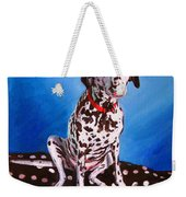 Dalmatian On Spotty Cushion Weekender Tote Bag