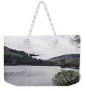 Dambusters Lancaster At The Derwent Dam Weekender Tote Bag
