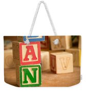 Dan - Alphabet Blocks Weekender Tote Bag