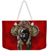 Dan Dean-gle Mask Of The Ivory Coast And Liberia On Red Leather Weekender Tote Bag