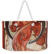 Dance Weekender Tote Bag by Alphonse Maria Mucha