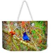 Dance Of Blue Jay Weekender Tote Bag