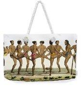 Dance Of The Caroline Islanders, Plate Weekender Tote Bag