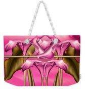 Dance Of The Pink Calla Lilies IIi Weekender Tote Bag
