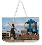 Dance The Durham Skyline Weekender Tote Bag by Jh Photos