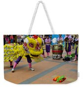Dance Troupe Performs Chinese Lion Dance Singapore Weekender Tote Bag