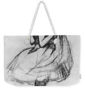 Dancer Adjusting Her Costume And Hitching Up Her Skirt Weekender Tote Bag by Henri de Toulouse-Lautrec