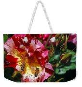 Dancing Bees And Wild Roses Weekender Tote Bag