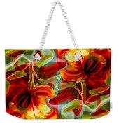 Dancing Flowers Weekender Tote Bag by Omaste Witkowski