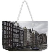 Dancing Houses Damrak Canal Amsterdam Weekender Tote Bag