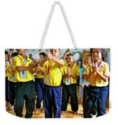 Dancing Kindergarten Students At Baan Konn Soong School In Sukhothai-thailand Weekender Tote Bag