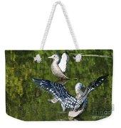 Dancing Loons Weekender Tote Bag