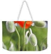 Dancing Orange Poppy Flower Pods Weekender Tote Bag