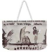 Dancing Pig, 14th Century Weekender Tote Bag
