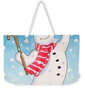Dancing Snowman Weekender Tote Bag