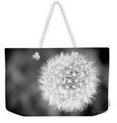 Dandelion 2 In Black And White Weekender Tote Bag