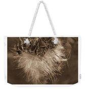 Dandelion Burst Sepia Weekender Tote Bag