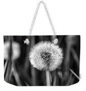 Dandelion Fluff Black And White Weekender Tote Bag
