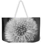 Dandelion Fluff In Black And White Weekender Tote Bag