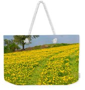 Dandelion Meadow And Alone Tree  Weekender Tote Bag