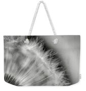 Dandelion Seeds - Black And White Weekender Tote Bag