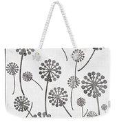 Dandelion Seeds Grey Weekender Tote Bag
