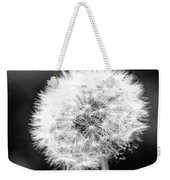 Dandelion Square Portrait In Black And White Weekender Tote Bag